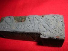 NERA LOU Sombrero Mexican Food Vintage Wood Block Printing PRINTERS Stamp