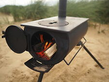 Outbacker® Portable Wood Burning Stove For Bell Tent - With Free Bag.