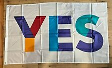 More details for 5'x3' multi-coloured *yes* flag & 2m telescopic flag pole ~ only £11.45 ~