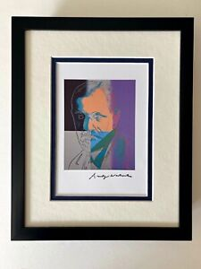 ANDY WARHOL 1984 SIGNED + SIGMUND FREUD + PRINT MATTED TO BE FRAMED AT 8X10