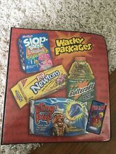 2006 Topps WACKY PACKAGES SERIES OFFICIAL BINDER W Over 100 Pieces