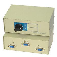 SVGA VGA Manual Monitor Switch Share Box Splitter 2 Port Way - SENT TODAY