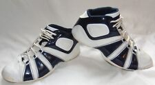 Mens Navy Blue & White ADIDAS Vintage 2006 Basketball Sneakers Shoes Sz 13