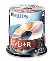 PHILIPS DVD+R 120 MIN VIDEO 4.7GB DATI 16X VELOCITÀ VUOTI DISC TORRE 100