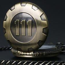 Vintage Antique Pendant Vault 111 Bronze Quartz Chain Pocket Watch Chain Retro E