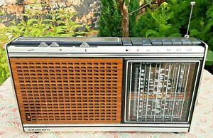 Vintage Grundig Concert Boy 1100 Radio Working Refurbished 1970's Good Condition