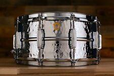Ludwig 14 x 6.5 LM402K martelé supraphonic snare drum, chrome