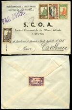 FRENCH COLONIES NIGER 1945 to MOROCCO + SENEGAL 1F50 as SEAL..AIRMAIL...SCOA ENV