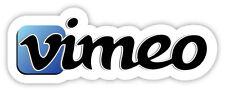 vimeo video-sharing website adesivo etichetta sticker 15cm x 5cm