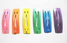 24 pcs - Cute Rectangular Hair snap clip  size 14 x 50 mm Mix Pastel color