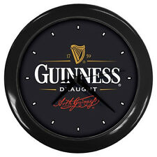 New Wall Clock (BLACK) Guinness Draught Wall Clock Rare Design!