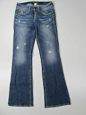 Silver Jeans Lola Trousers Hose Denim Jeans Pantalone Blau Neu 28