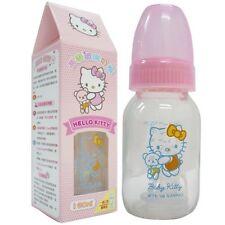 Hello Kitty Pink Baby Glass Feeding Bottle 4oz. / 120ml BPA FREE Sanrio