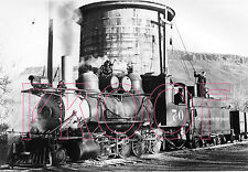 Colorado & Southern (C&S) Engine 70 at Water Tower, Golden CO in 1941- 8x10