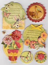 Beautiful K & Company Susan Winget *STITCHED ADORNMENTS* Collaged Embellishments