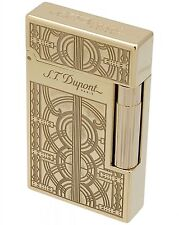 S.T. Dupont L.E. Ligne 2 Travel In Time Lighter, Yellow Gold, Boston 16970, NIB