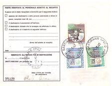 REPUBBLICA: RICEVUTA PACCHI CON CASTELLI E ALTI VALORI L. 5.000 E 20.000