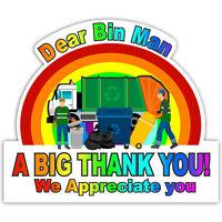 Bin Man Rainbow Of Hope Thank You Key Workers Window Sticker NHS Car House