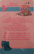 "Pocket Keepsake Messages ""You're A Special Niece"" Wallet/Purse Card/Envelop"