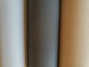 Budget Awnings Sunscreen fabric swatch  for Outdoor  Roller Blinds
