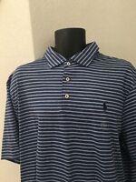 Polo Ralph Lauren Mens Classic Fit Soft Touch Stripe 100% Cotton Shirt Size XL