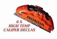 honda Brake Caliper Decal   sticker