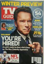 TV Guide Jan 2-15 2017 Winter Preview Arnold Schwarzenegger FREE SHIPPING sb
