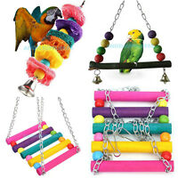 Cage Hammock Swing Hanging Chew Toy Pet Bird Parrot Parakeet Budgie Cockatiel #A