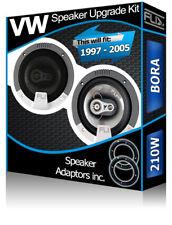 VW Bora Rear Door Speakers Fli car speakers + speaker adapters 210W