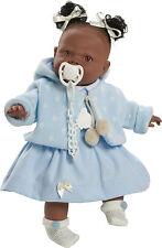 Preciosa muñeca Alicia negrita azul llorona con pirris. En bolsa. Envío urgente!