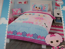 Lalaloopsy Girls Double Bed Pink Blue Printed Quilt Cover Set New