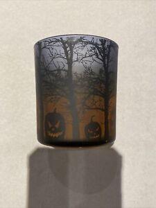 "Yankee Candle Votive Holder 3"" Halloween Scene Jack-O-Lantern"