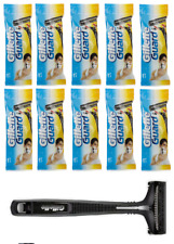 10 Gillette Guard Razor With Cartridge Blade Easy Smooth 100% Safe Shave Travel