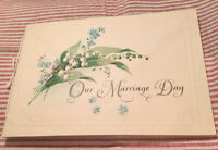 """1933 MARRIAGE BOOKLET """"OUR MARRIAGE DAY"""" WILLIAM MORSE & MINA GRIEPENTROG MN"""