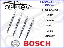 4 CANDELETTE BOSCH 0250203002 FIAT PANDA 1,3cc MULTIJET 75CV 55KW DAL 2006