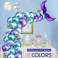 Mermaid Tail Balloon Garland Latex Balloons Arch Baby Shower Wedding Birthday