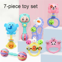 7Pcs Baby Rattle Toys Set Baby Sensory Toy Kids Baby Early Educational Gifts