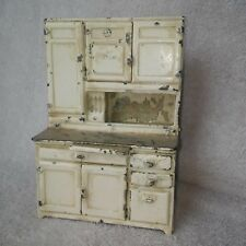VINTAGE ARCADE STEEL DOLL HOUSE KITCHEN CABINET   CIRCA 1920