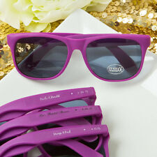 80 - Personalized Purple Sunglasses - Beach Themed Wedding Party Favor