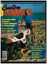 CUSTOM BIKE NOVEMBER 1978 CUSTOM SPORTSTERS 220 TONS OF HARLEY PARTS NEW H-D XLS