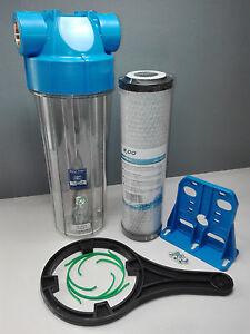 "Aquafilter 10"" Whole House Water Filter Dechlorinator Chlorine Removal 1/2"" BSP"
