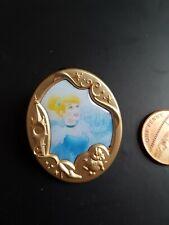 Disney Pin Badge Princess Cinderella Gold Frame Portrait