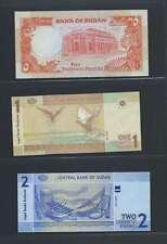 Afrique Ancien Mali Soudan  Lot de 3 billets différents  en état NEUF   Lot N° 7