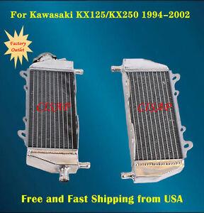 010D aluminum alloy radiator radiator compatible with Kawasaki KX250 KX 250 2-stroke 1999-2002 with stopper+capless