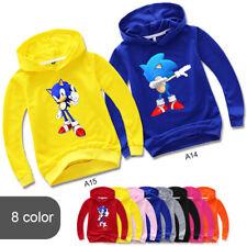 Kids Boys Girls SweatShirt Sonic The Hedgehog Cartoon Hoodies Tops SweatShirt