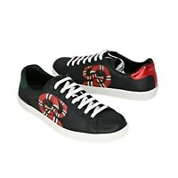 New In Box Gucci Men's New Ace Kingsnake Print Leather Sneakers US 7/ G 6