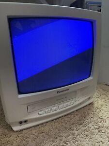 "Panasonic TV VCR Combo 13"" VHS PVQ-1312W Retro Gaming  Tested"