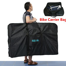 "51"" Bike Folding Travel Bag Carry Transport Case Road Mountain Bicycle Luggage"