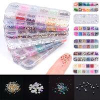 3D Nail Art Glitters Beads Rhinestones Acrylic Tips Decoration Wheels Manicure