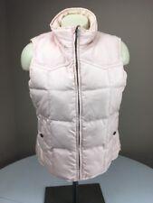 Vtg LRL Ralph Lauren Light Pink BLUSH DOWN FILLED Puffer Puffy Ski Vest Petite M
